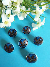 """1050/Stunning Buttons """" Chimaera """" Blue And Red Set Of 6 Buttons Ép. 1950"""