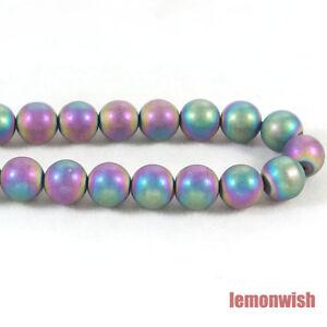 Matte Hematite Gemstone Round Spacer Beads 16'' 4mm 6mm 8mm 10mm Jewelry DIY