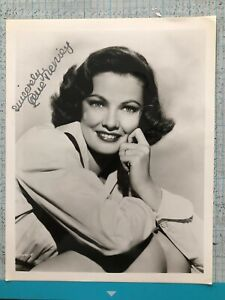 Hand Signed photo 1940's Gene Tierney