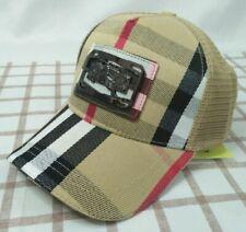 Brown Burberry Mesh Cap Golf Baseball Hat Mens Adjustable