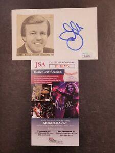 Joe Gibbs Signed 3x5 index card JSA Certified Auto! NFL Coach Washington
