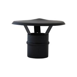 Fumaiolo a cappello cinese in acciaio nero d. 10 cm maschio per stufe a Pellet