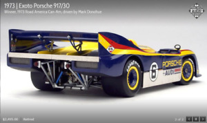 EXOTO 73 Porsche 917/30 W/Road Amer. Can Am M.Donohue RETIRED 1:18 NIB #RLG18182