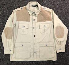 VINTAGE 10-X Hunting Shooting Jacket Coat Sz L 44 Safari Trap Khaki A21