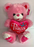 "Sweetheart Teddy Pink Princess Heart 2020 Plush 19"" Bear Dan Dee Walmart"