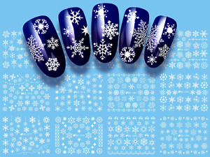 Snowflakes Nail Art Water Decals, Nail Stickers, Nail Decals, Winter, Christmas