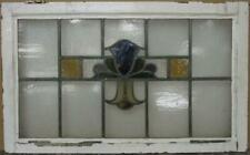"""OLD ENGLISH LEAD STAINED GLASS WINDOW TRANSOM Gorgeous Abstract 31.25"""" x 19.25"""""""