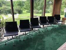 Herman Miller Aluminum Group Eames Management Chair Black Leather 6 Available