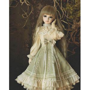 1/4 1/3 SD16 BJD Outfit Lolita Doll Clothes Yarn&Chiffon Floral Layer Full Dress