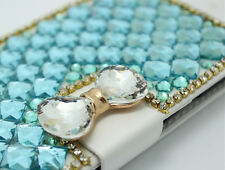 Handmade Bling Magnetic Diamond PU leather flip slots wallet Phone cover case F