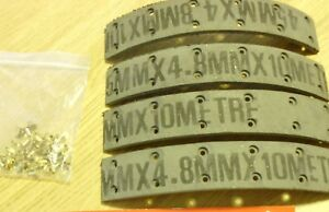 SUNBEAM TALBOT 80 10HP 1948-1951 SET OF 4 FRONT BRAKE LININGS WITH RIVETS WE074