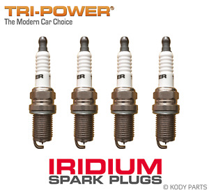 IRIDIUM SPARK PLUGS - for Daihatsu Sirion GTVi 1.3L M101S (K3-VE2 eng) TRI-POWER
