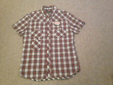 Men's Casual Shirt By CRIMINAL New No Tags Cotton Adult Medium (M2)