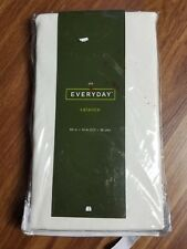 NEW JCP Everyday Valance 50x14 Cream Solid Ivory Curtain Modern