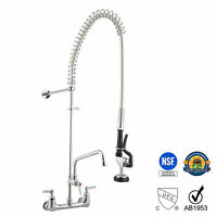 """Aquaterior® Commercial Pre-Rinse Faucet Swivel with 12"""" Add-On Faucet CUPC NSF"""
