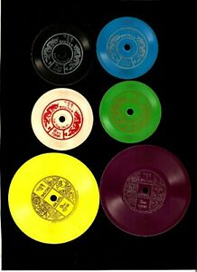 BHUTAN 25 1.25 3 7 8 9 Phonograph Record as STAMPS 1973 MINT Music Bhutanese SET