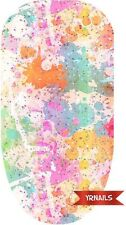 Nail WRAPS Nail Art Water Transfers Decals - Colour Splatter Light - W078