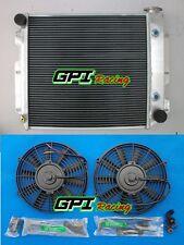 3 ROW 87-02 Jeep Wrangler YJ & TJ Aluminum Radiator w/ Chevy V8 Engine +2×FAN