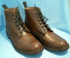 Loake Bedale Men's Brogue Boots - Brown Leather - Size 12 Pennine/g Wide Fitting