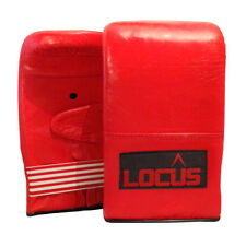 LOCUS Boxing Bag Mitts Sparring, MMA, Kickboxing, Karate, Training Gloves - RED