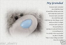 GRANDAD / GRANDFATHER GIFT (Laminated Poem) -A4 size