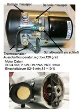 DC motor 24 Voltios 24V 2kW