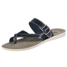 Damen-Sandalen & -Badeschuhe-Zehentrenner aus Echtleder für die Freizeit