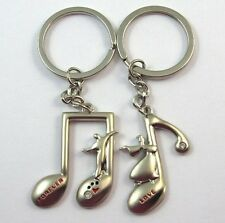 Music Note Lover Metal Keychain Keyring Keyfob Key Ring  ~1 Pair 2pcs~ :)