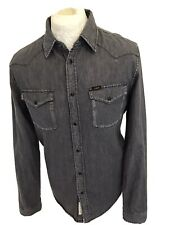 LEE MENS *WESTERN* DENIM SHIRT MEDIUM