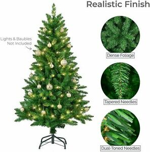 Christmas Artificial Tree Green 5F/6FT/7FT Pine Metal Stand TipsThick Tree Decor