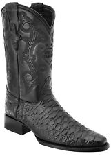 Men's White Diamonds Anteater Print Cowboy Boots Narrow Square Toe Handmade