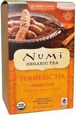 Amber Sun Turmeric Tea, Numi Organic Tea, 12 tea bag 1 pack
