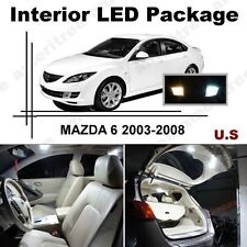 White LED Lights Interior Package Kit for Mazda 6 2003-2008 ( 9 Pcs )