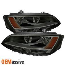 Fits Smoked 11-18 Volkswagen Jetta Sedan Headlights Lamps Pair Left+Right Set