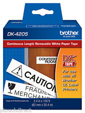 """Brother DK4205 2-3/7"""" Removable Continuous Tape for QL710N, QL-710N printer"""