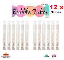 12 X MINI tubi di bolle cuore Party Bag Filler Bomboniere Tavolo Decor Kids