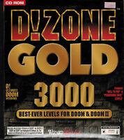 PC Big Box CD-ROM Game D!Zone Gold 3000 for Doom I & II 1996 WizardWorks NIB NOS