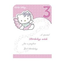 Age 3 Birthday Card Hello Kitty Age 3 - Open Daughter Niece Granddaughter....
