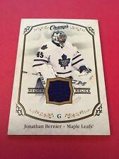 Jonathan Bernier  Maple Leafs 2015-2016 Champ's Relics #J-BE