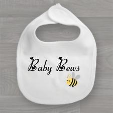 Personalised Baby's Surname Bumble Bee, Baby Bib, Unisex Feeding Dribble Muslin