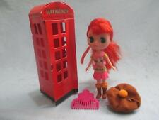 Littlest Pet Shop Blythe Doll Red Hair with Telephone Hat Comb Accessories Lot