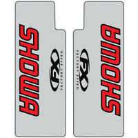 NEW Factory Effex Mx SHOWA Red Black Clear Fork Decals Stickers