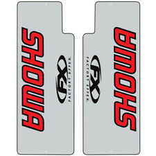 Factory Effex MX Showa Red Black Clear Fork Decals Stickers