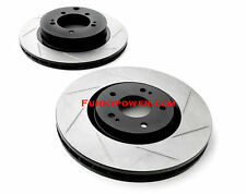 Stoptech Sport Slotted Front Brake Discs - Lancer Evo 5 6 7 8 9 Brembo - New UK