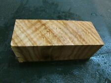SPALTED TIGER OAK DELUXE KNIFE BLOCK/SCALES/ CALLS/ PEN BLANKS--O--B--1