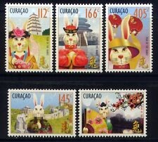 Curacao 2011 Jahr des Hasen Year of the Rabbit Zodiac Neujahr 14-18 MNH