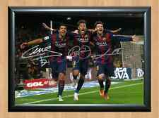 Lionel Messi Suarez Neymar Signed Autographed A4 Photo Print Poster Memorabilia