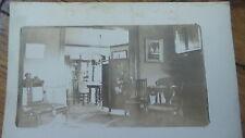 Antique RPPC VICTORIAN HOME INTERIOR PHOTO