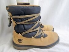 """Boys Youth TIMBERLAND 72913 WATERPROOF 6"""" QUIL Leather Boots 5.5 BROWN BLACK"""