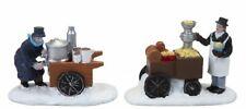 Mini Christmas Village Food Cart Scene Accessories Vintage